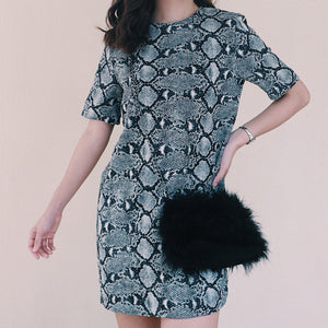 Zara black with snake skin design dress