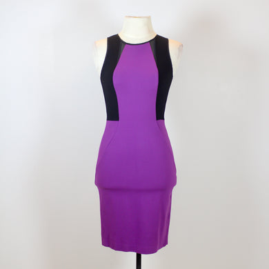 Kenneth Cole Violet Body Con Dress with Small Mesh Design in Front