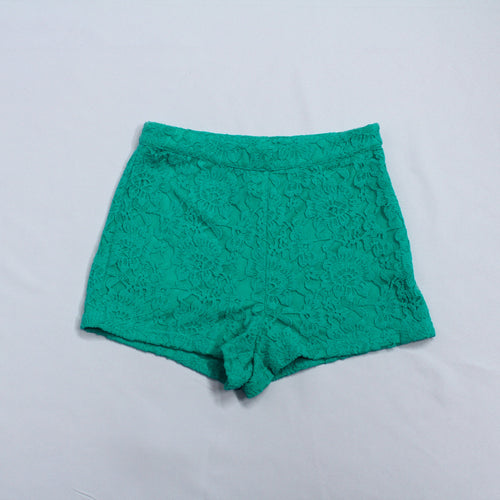 Forever 21 Green Lace Shorts