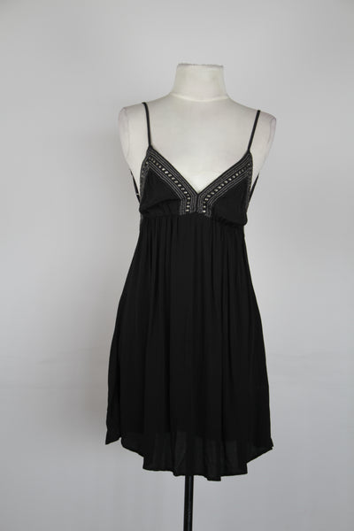 Magali Pascal Black V-Neck Dress with Beads