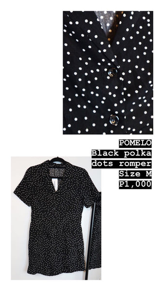 Pomelo black polka dots dress