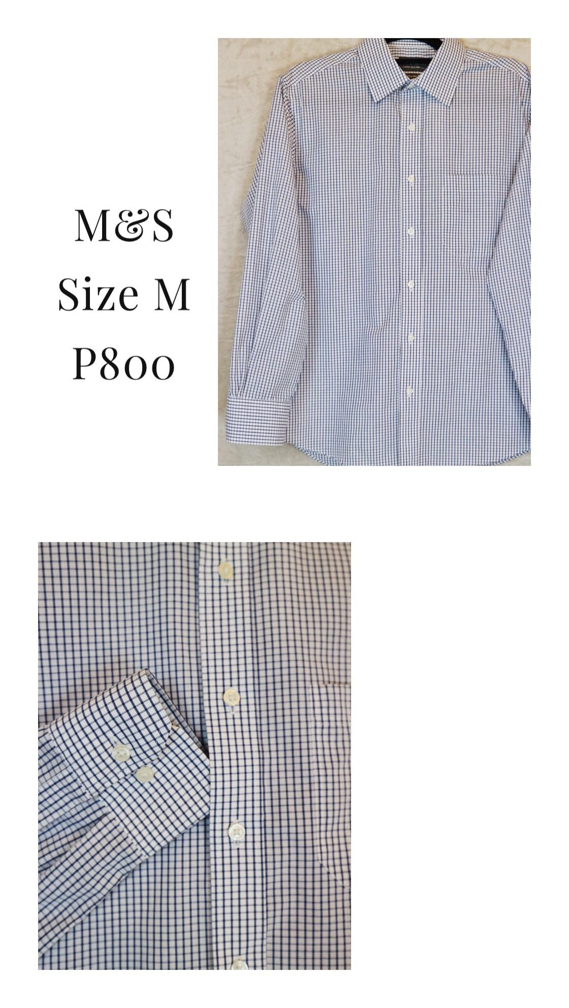 Marks & Spencers Blue Checkered Shirt with collar