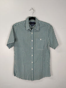Topman Green Checkered Shortsleeves Polo