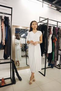 Rajo Laurel White Dress with Ruffles Details