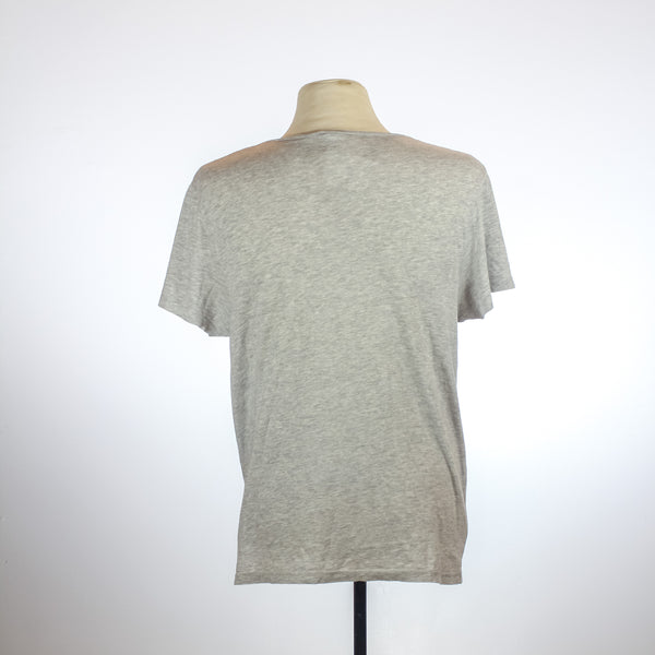 Topman Gray Round Neck T-Shirt