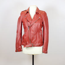 N/A Red Vintage Leather Jacket