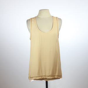 Zara Peach Sleeveless Blouse with Embroidered Armholes