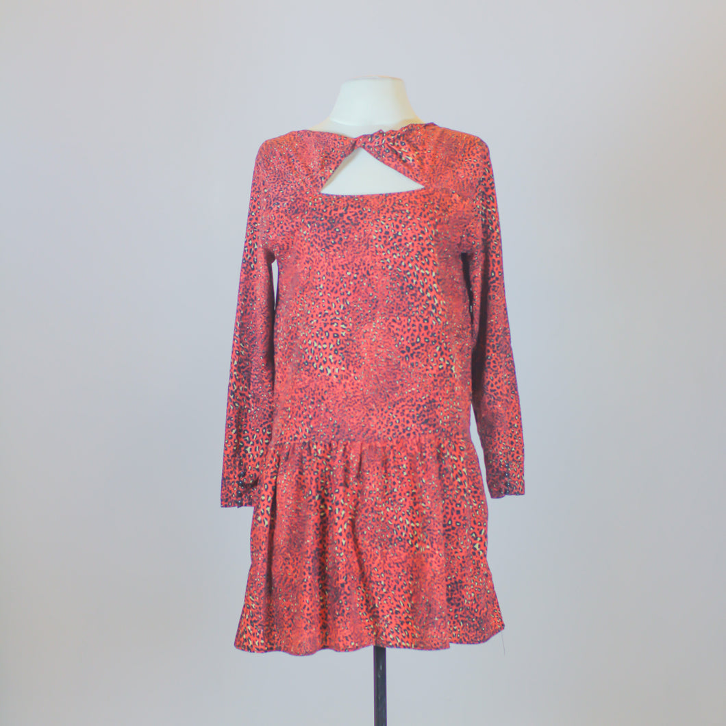 N/A Red Cheetah Printed Dress