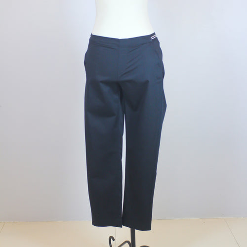 Uniqlo Black Garterized Ankle-Length Trousers with Striped Garter