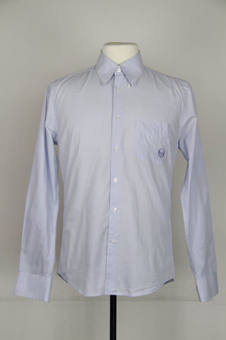 Light Blue Stripe Long Sleeve Button-Up