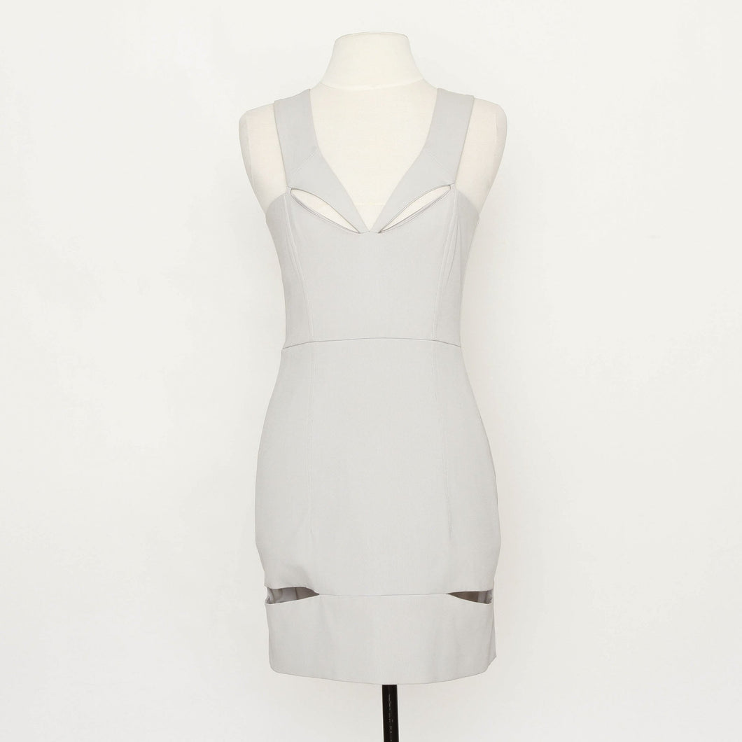 Mason Grey V Neck Cut Out