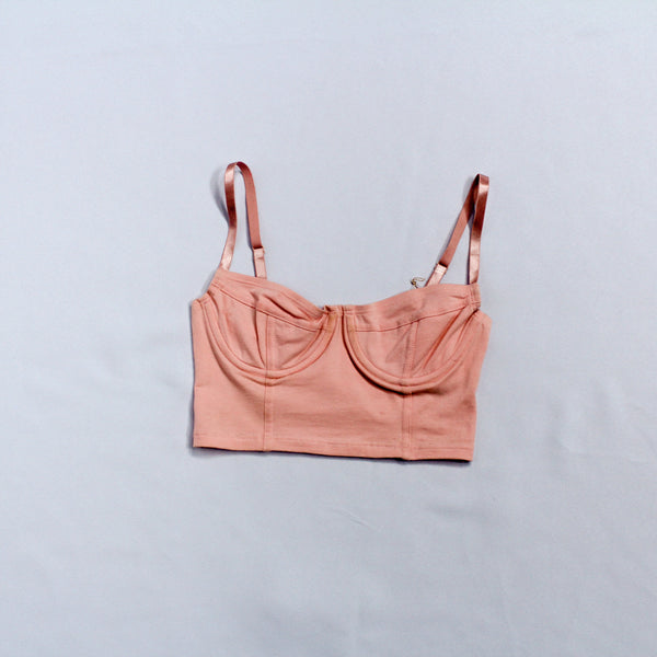 American Apparel Pink Wired Crop Top
