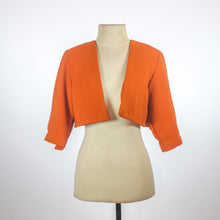 Suzy Clothing Orange Cropped Blazer