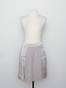 Reiss Silver Two Tone Knee Length Skirt