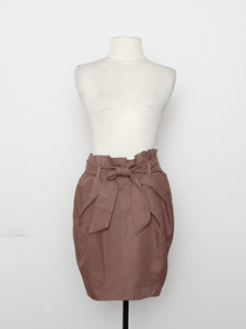Asos Brown High Waist Ruffled Skirt