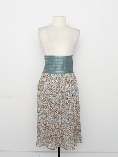 Elizabeth & James High Waist Paisley Skirt