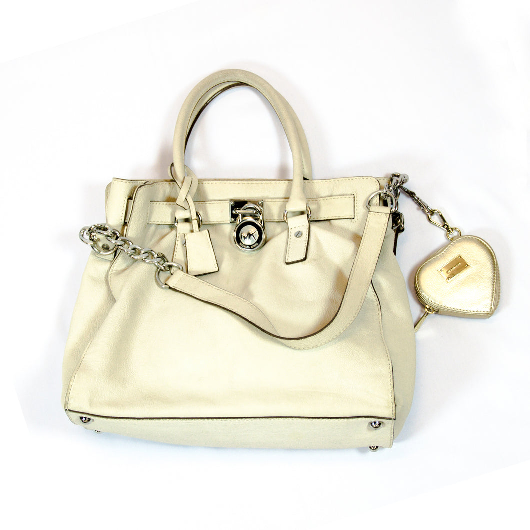 Michael Kors Beige Handbag with Pouch