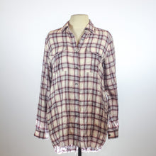 Theory Pink Flannel Button-Up Longsleeve