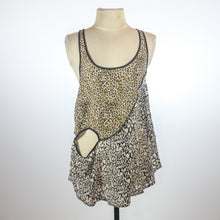 Reiss Mixed Leopard Tank With Cut Outs