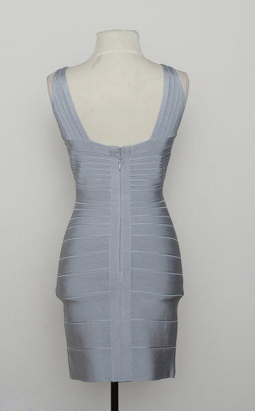 Herve Leger Baby Blue Bandage Dress