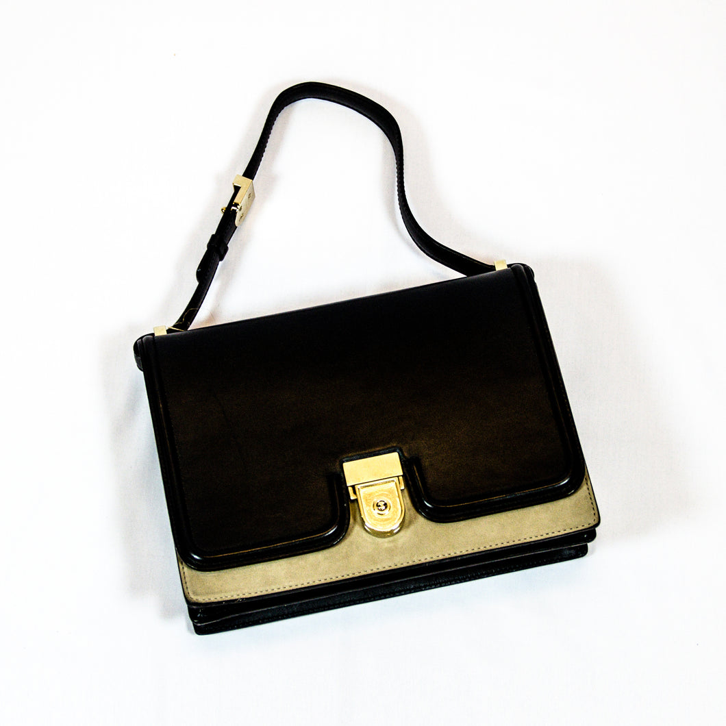Victoria Beckham Black And Cream Shoulder Bag