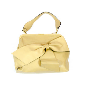 Valentino Brown Ribbon Shoulder Bag