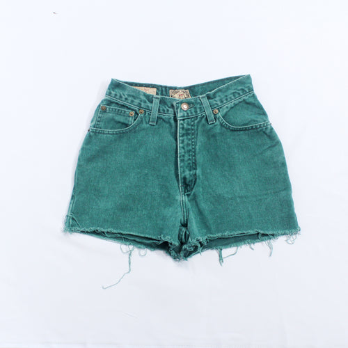 EXP Jeans Green Tattered Shorts