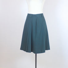 Escada Green Flowy Skirt with Pleats