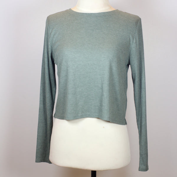 H&M Green Crop Sweater