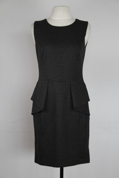 Michael Kors Grey Fitted Peplum With Exposed Back Zipper