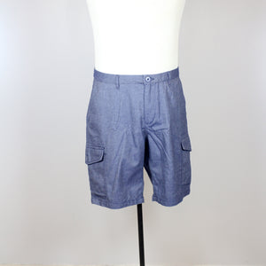 Kaporal Blue Denim-like Cargo Shorts