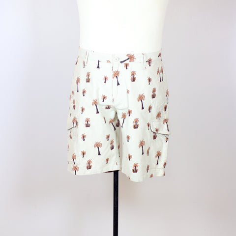 Kaporal Beige Cargo Shorts with Coconut Tree Prints