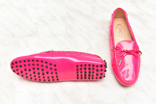 Tod's Neon Pink Loafers