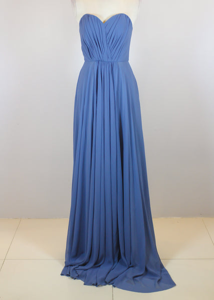 Boom Sason Blue Tube Sweetheart Gown