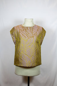 K&Company Violet Blouse with Yellow Lining