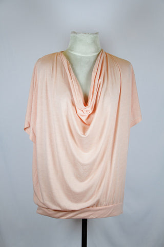 Phrase Pink Blouse with Drape Design