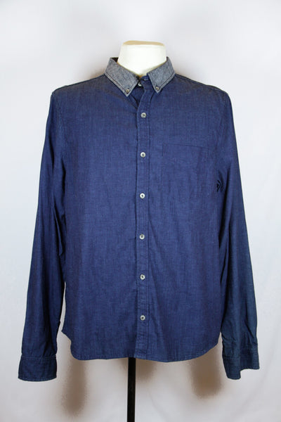 Adriano Goldschmied Dark Blue Chambray Shirt