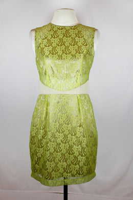Charina Sarte Green lace dress