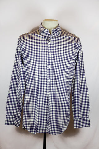J Crew Blue Checkered Shirt