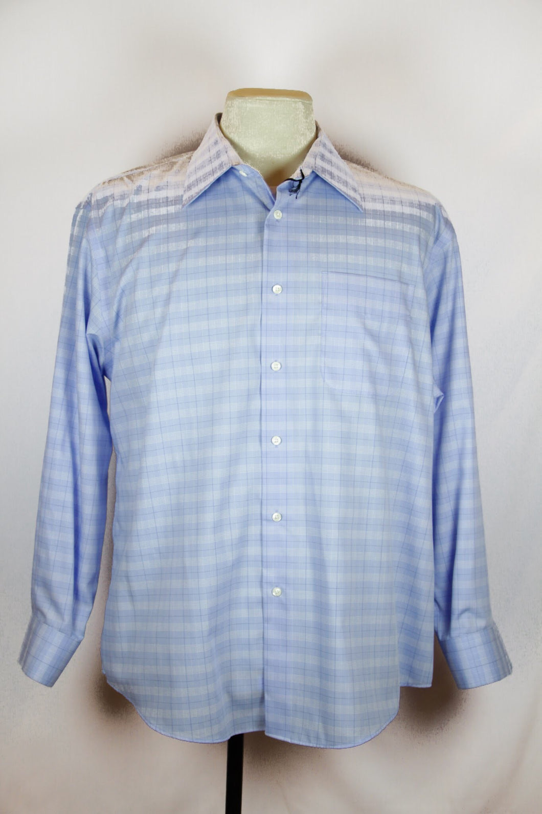 Nordstrom Blue Gingham Shirt with collar