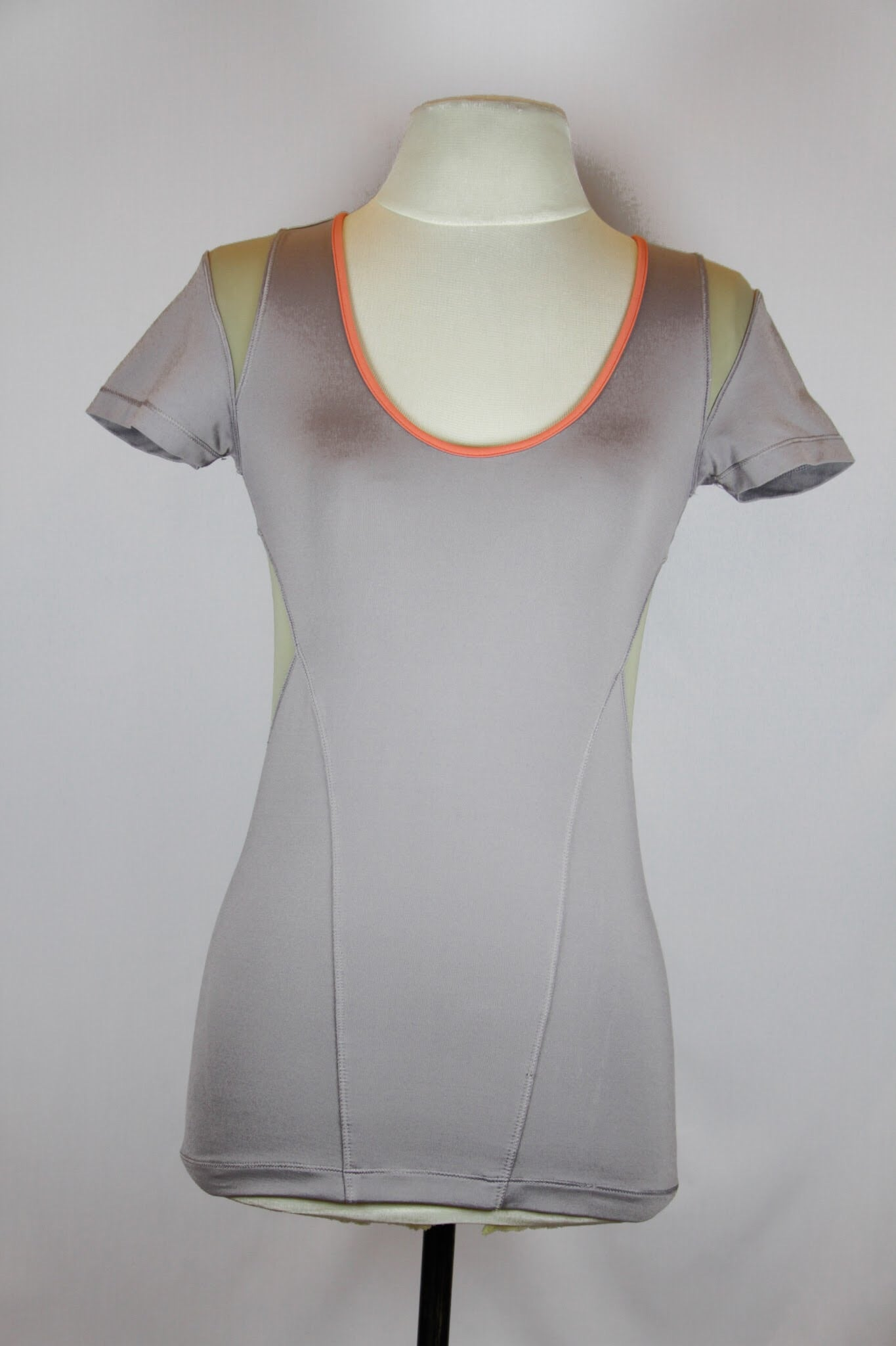 Stella McCartney Adidas Grey Athletic Top with Pink Lining