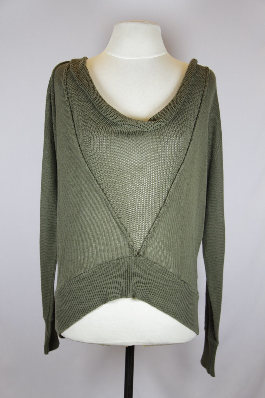 Rococo Green Knitted Long-Sleeved Sweater