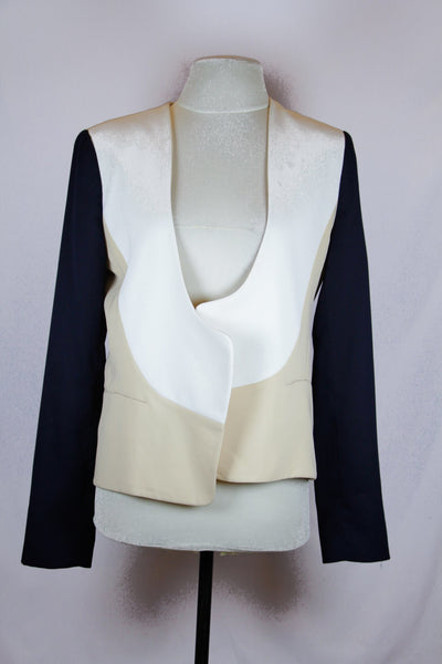Diane Von Furstenberg White , Cream and Black Blazer