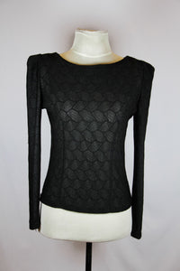 Threads Black Long Sleeved See Through Blouse