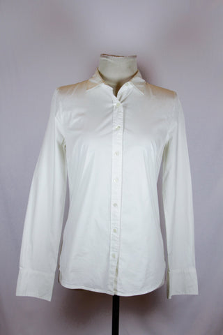 J. Crew White Polo Blouse