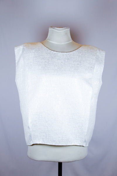 Rossana Ocampo White Blouse with silver details