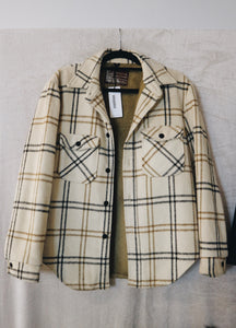 Oakbrook sportswear brown checkered with front pocket jacket