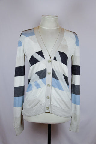 Marc Jacobs Grey Cardigan with blue accent