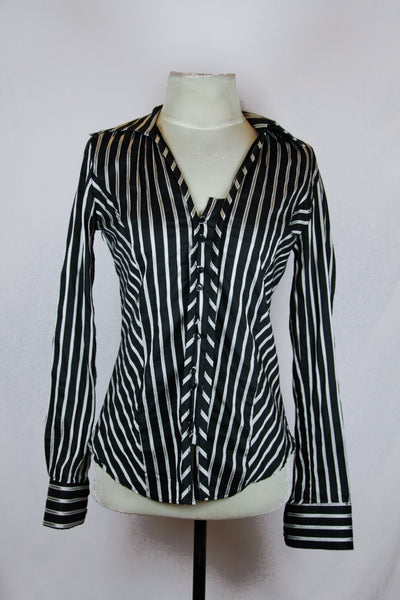 Zara Black Striped Blouse