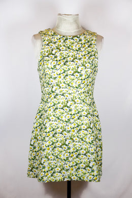 Jaspal Green Daisy Floral Apron Dress